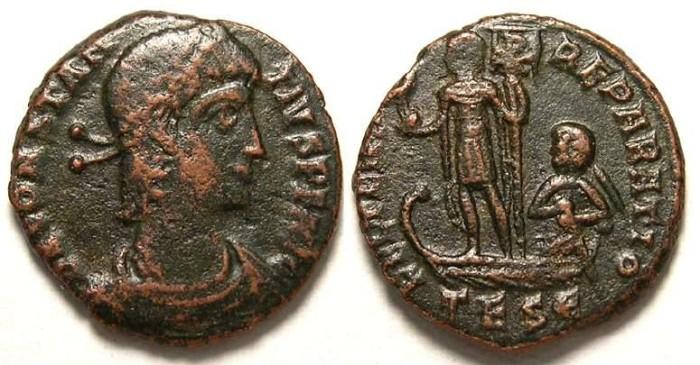 Ancient Coins - Constantius II, AD 337-361. AE 1/2 Centenionalis