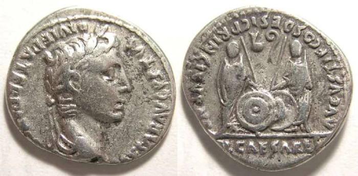 Ancient Coins - Augustus, 27 BC - 14 AD. Silver denarius.