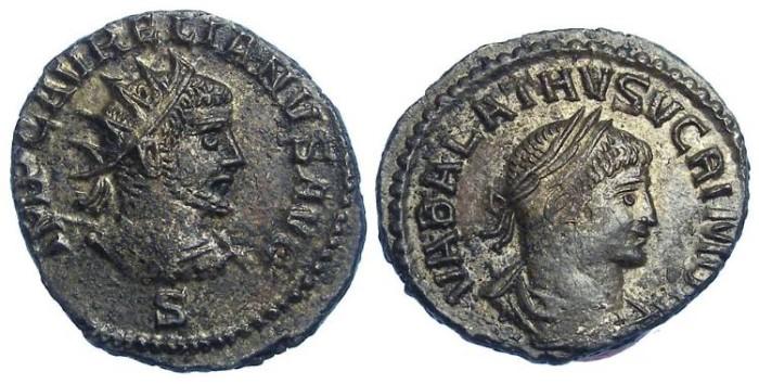Ancient Coins - Vabalathus, AD 271-272. Bronze Antoninianus