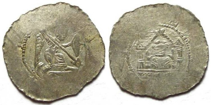 Ancient Coins - Bohemia. Premysl Ottokar I, AD 1192 to 1230. Silver denier.