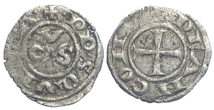 Ancient Coins - Italy, Ancona. 13th to 15th century Anonymous billon denaro.