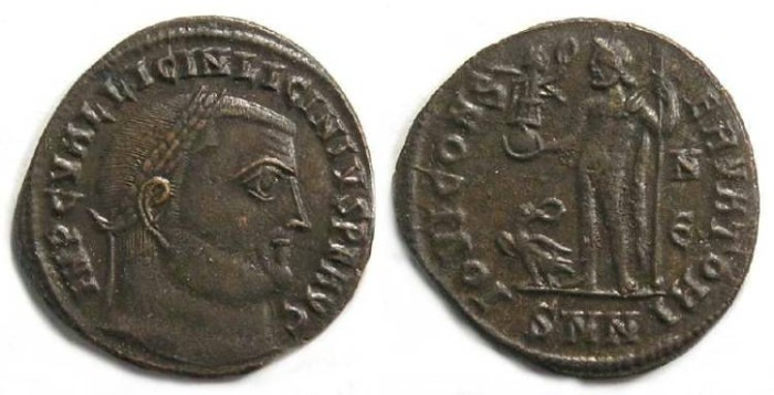 Ancient Coins - Licinius I, AD 308-324. Bronze follis.