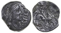Ancient Coins - Celtic, Gaul. Carnutes Tribe. Pixtilos ca. 40 to 30 BC. AE 16.  Very nice for type.