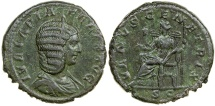 Ancient Coins - JULIA DOMNA, AD 193-217.  AE AS STRUCK UNDER CARACALLA
