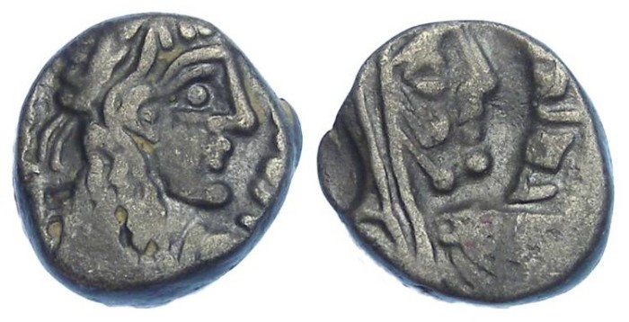 Ancient Coins - Nabataean, Rabbel II, 71 to 106 AD. Silver Drachm.