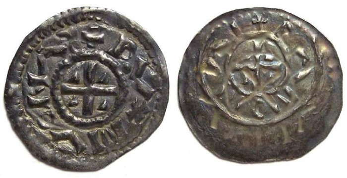 Ancient Coins - Hungary. Geza. AD 1064 to 1074. Silver Denar.