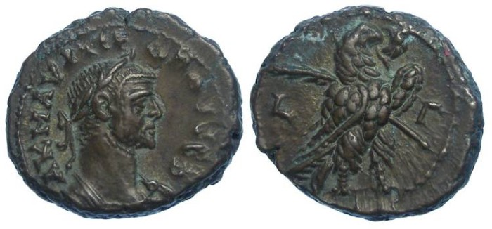 Ancient Coins - Probus, AD 276 to 282. Alexandrian Potin tetradrachm.