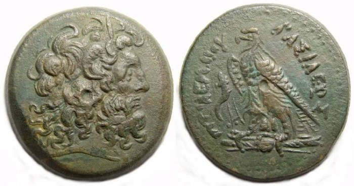 Ancient Coins - Ptolemaic Kingdom. Ptolemy IV, 221-205 BC. AE 34.
