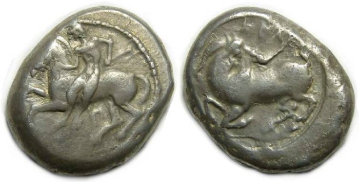 Ancient Coins - Kelenderis in Cilicia, ca. 425 to 400 BC. Silver stater.
