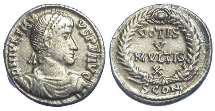 Ancient Coins - Julian II. AD 360 to 363. Silver siliqua.