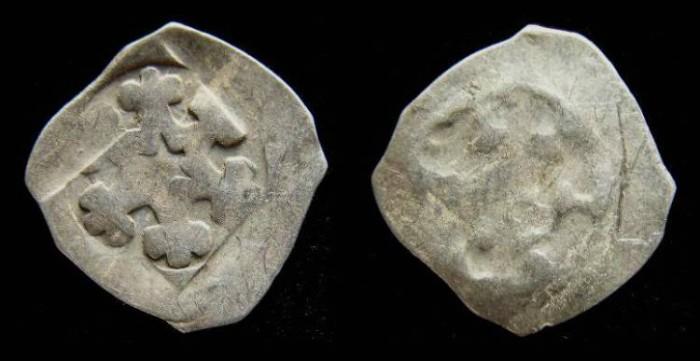 Ancient Coins - Austria, Enns. Albrecht I, AD 1282 to 1308. Silver Pfennig.