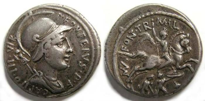 Ancient Coins - Roman Republic. P. Fonteivs P F Capito. ca. 55 BC.