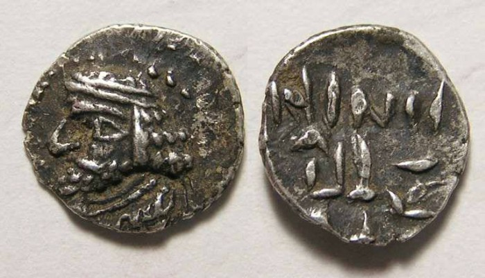 Ancient Coins - Kingdom of Persis. Varsir, 1st century BC. Silver obol.