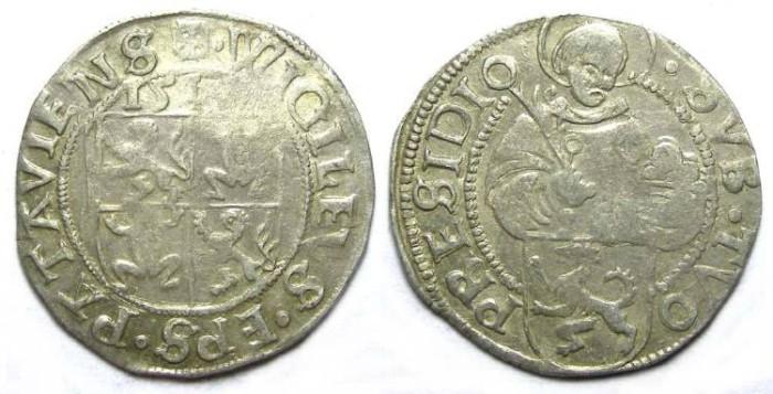 Ancient Coins - Germany, Passau Bishopric of Patavia. Silver Batzen.  Date weak (151?).