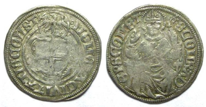 Ancient Coins - Germany/Swiss/Austria. Constanz City. Anonymous 16th century. Silver 1/2 batzen.