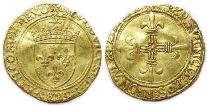 World Coins - France. Louis XII, AD 1498 to 1514. Gold Ecu.