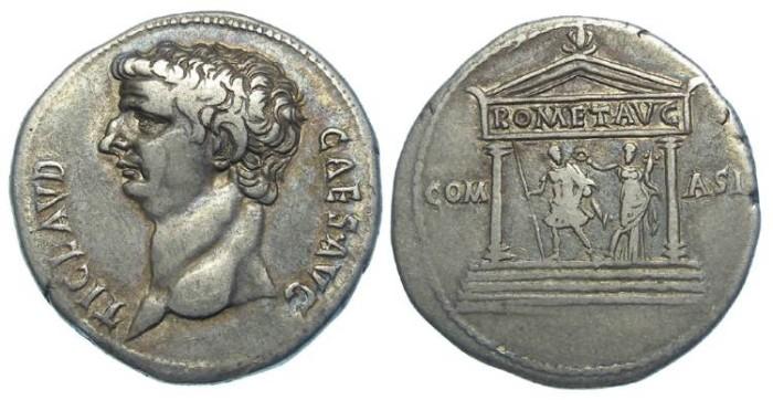 Ancient Coins - Claudius, AD 41 to 54. Silver Cistophorus