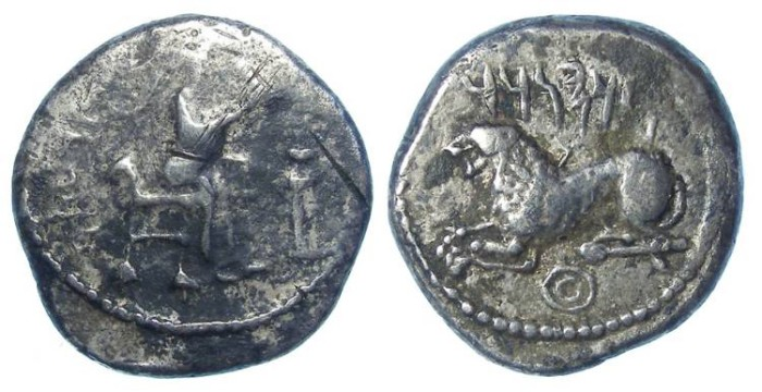Ancient Coins - Kingdom of Macedonia, Alexander III (the Great), 336 to 323 BC. Silver stater from Bambyce Hieropolis.  Of the highest rarity.