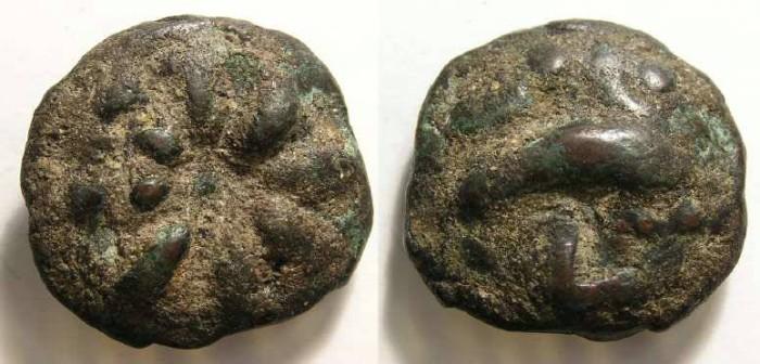 Ancient Coins - Roman Republic. Aes Grave from Luceria in Apulia.  ca. 220 BC.