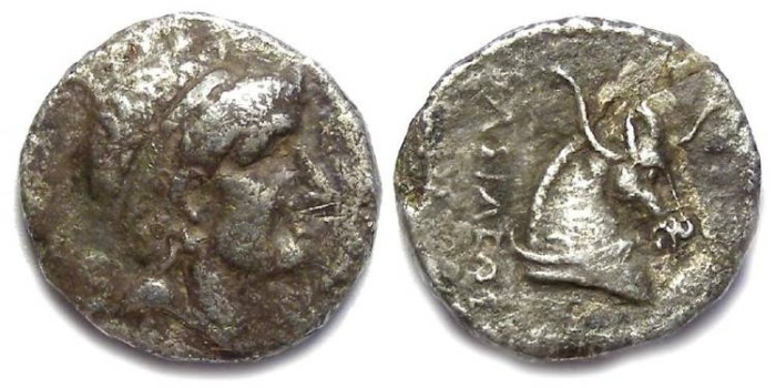 Ancient Coins - Seleukid Kingdom. Antiochos I, 280 to 261 BC. Silver drachm.
