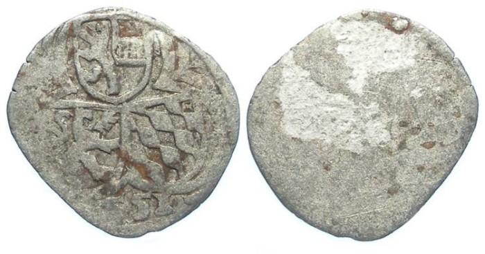 World Coins - Austria, Salzburg.Ernst Von Bayern, 1540 to 1554.  Silver Zweier. Dated 1551.