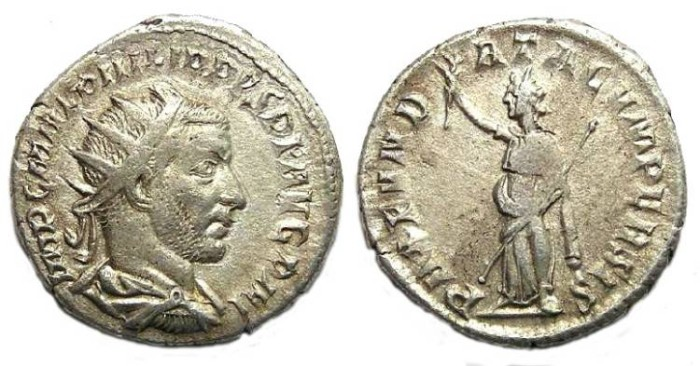 Ancient Coins - Philip I, AD 244-249. Silver Antoninianus.  Peace with Persia