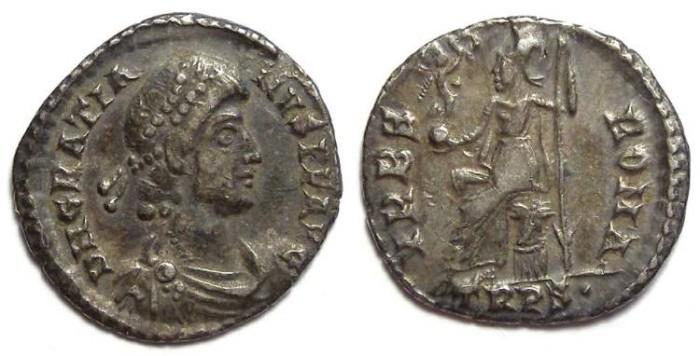 Ancient Coins - Gratian, AD 376-383. Silver siliqua