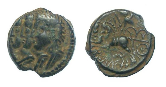 Ancient Coins - Celtic, Gaul. Remi Tribe. mid 1st centry BC.  AE 15.  Very nice example.