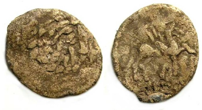 Ancient Coins - Thracian Celtic (?) Imitation of an Odessos bronze, struck in lead.