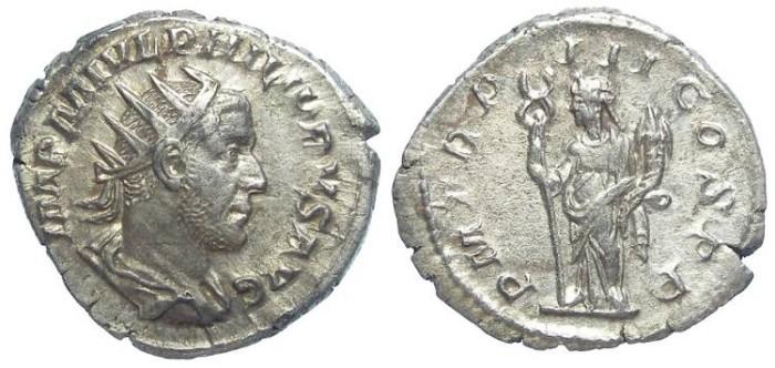 Ancient Coins - Philip I, AD 244-249. Silver antoninianus