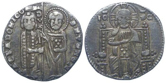 Ancient Coins - Italy, Venice. Bartolomeo Gradeuigo. AD 1339 to 1342. Silver Grosso.