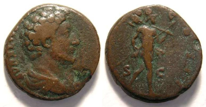 Ancient Coins - Marcus Aurelius, as Caesar, AD 139 to 161, Copper As.