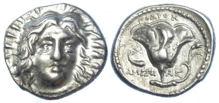 Ancient Coins - Rhodos. ca. 304 to 275 BC. Silver didrachm.