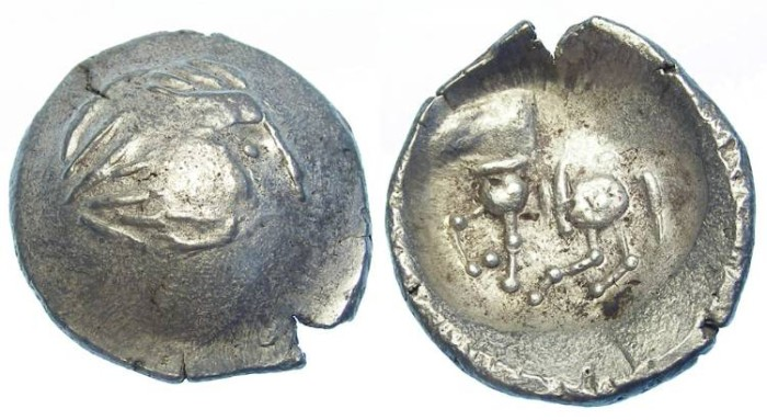 Ancient Coins - Danubian Celtic silver tetradrachm imitating Philip II. 3rd to 2nd Century BC.