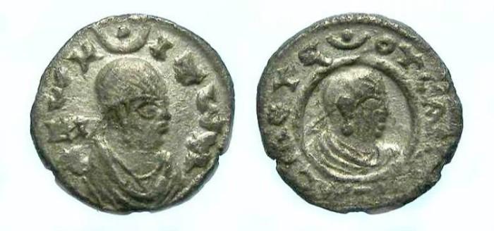 Ancient Coins - Axumite. Ousanas. ca. AD 300.  Silver Unit.