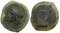 Ancient Coins - SICILY, ADRANUM.  CA. 344 TO 339 BC. AE HEMILITRA.  2009 provenance.