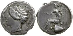 Ancient Coins - Terena. Stater.  Bruttium in Italy. ca. 445 to 425 BC.