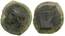 Ancient Coins - SICILY, ADRANUM.  CA. 344 TO 339 BC. AE HEMILITRA.  2009 provenance.