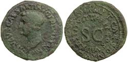 Ancient Coins - Drusus restitution by Titus.  AE As. Issued in AD 80.