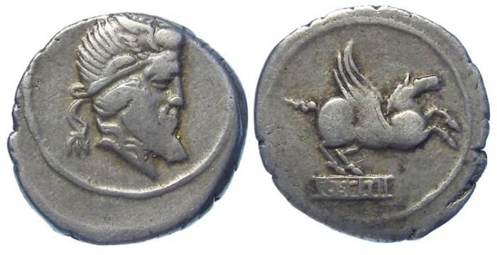 Ancient Coins - Roman Republic. Q. Titius. ca. 90 BC.