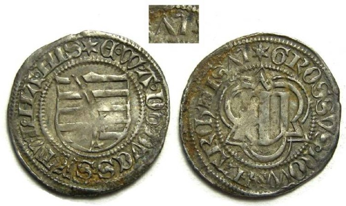 Ancient Coins - Germany, Saxony. Silver Spitzgroschen. DATED 1475.