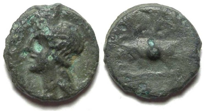 Ancient Coins - Celtic, British. Trinovantes. 1st century BC.  Cast Potin.  Thurrock type.