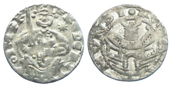 Ancient Coins - German, Aachen. Friedrich I Barbarosa, AD 1152 to 1190.