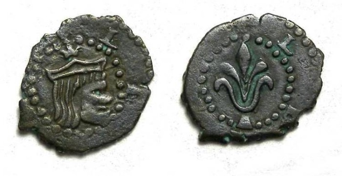 Ancient Coins - Spain, Lleida (Lerida).  Philip III, AD 1598 to 1621.  AE diner.