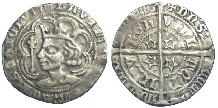 Ancient Coins - Scotland, David II, AD 1329 to 1371. Silver Groat.