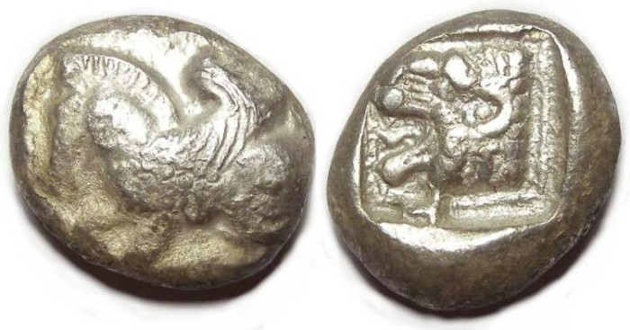 Ancient Coins - Lycian Dynasts.  ca. 500 to 440 BC. Silver stater.