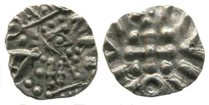 Ancient Coins - Britain, Anglo-Saxon, ca. AD 700 to 750.  Frisian sceattas.