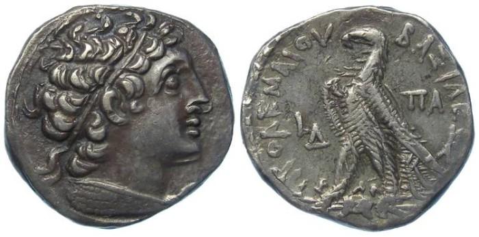 Ancient Coins - Ptolemaic Kingdom. Ptolemy XII, 80 to 51 BC. AR tetradrachm.