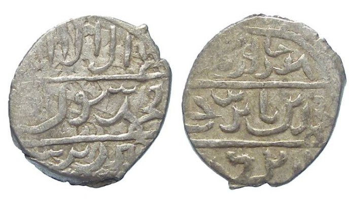 Ancient Coins - Islamic, Ottoman Empire. Mehmet Celebi, AD 1403 to 1413. Silver Akce. As vassal, citing Timur as overlord.