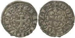 World Coins - French Royal. Philippe IV Le Bel. AD 1285 to 1314. Billon double Parisis.